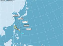 鳳凰颱風路徑大轉向 最快明早發海警