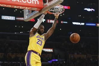 NBA》湖人滅雷霆5連勝 詹皇大三元寫紀錄