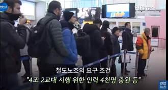 南韓鐵路工會開始無限期罷工