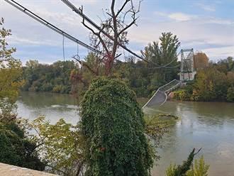 吊橋瞬間垮2慘死 竟是它過重