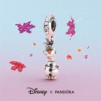 PANDORA《冰雪奇緣2》 艾莎、安娜和雪寶貼身佩戴