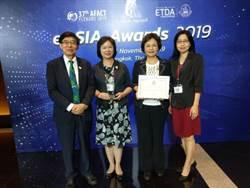 健保署勇奪2019年亞太電子化成就獎銀獎