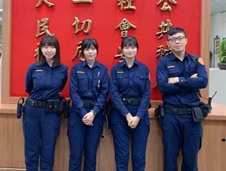 八德警分局 添2名小清新女警