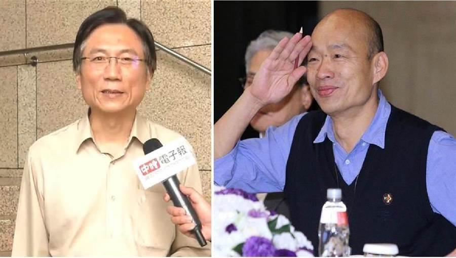 桃園市議員詹江村(左)、高雄市長韓國瑜(右)。(圖/合成圖,本報資料照)