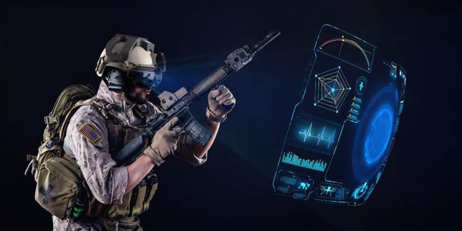 戰術資訊眼鏡,將可使士兵成為資訊戰士。(圖/洛克希德馬丁)
