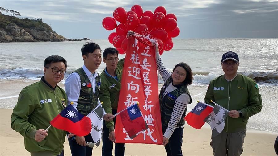 民進黨主席卓榮泰及秘書長羅文嘉今赴馬祖輔選。( 民進黨中央提供)