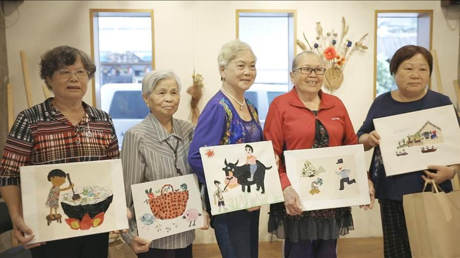▲《阿嬤的拼布畫》花蓮牛犁社區銀髮阿嬤靠拼布活出新生活。