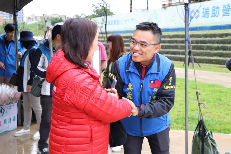 國民黨新北市第一選區立委參選人洪孟楷。(吳亮賢攝)