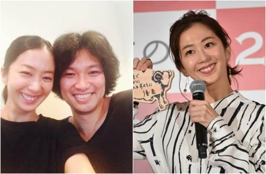 優香和青木崇高3年前閃電結婚,近日宣布懷孕喜訊。(圖/翻攝自日網)