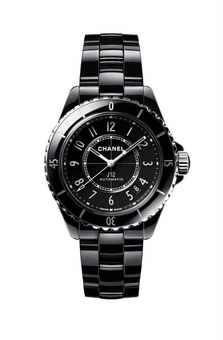J12黑色腕表。(香奈兒提供)