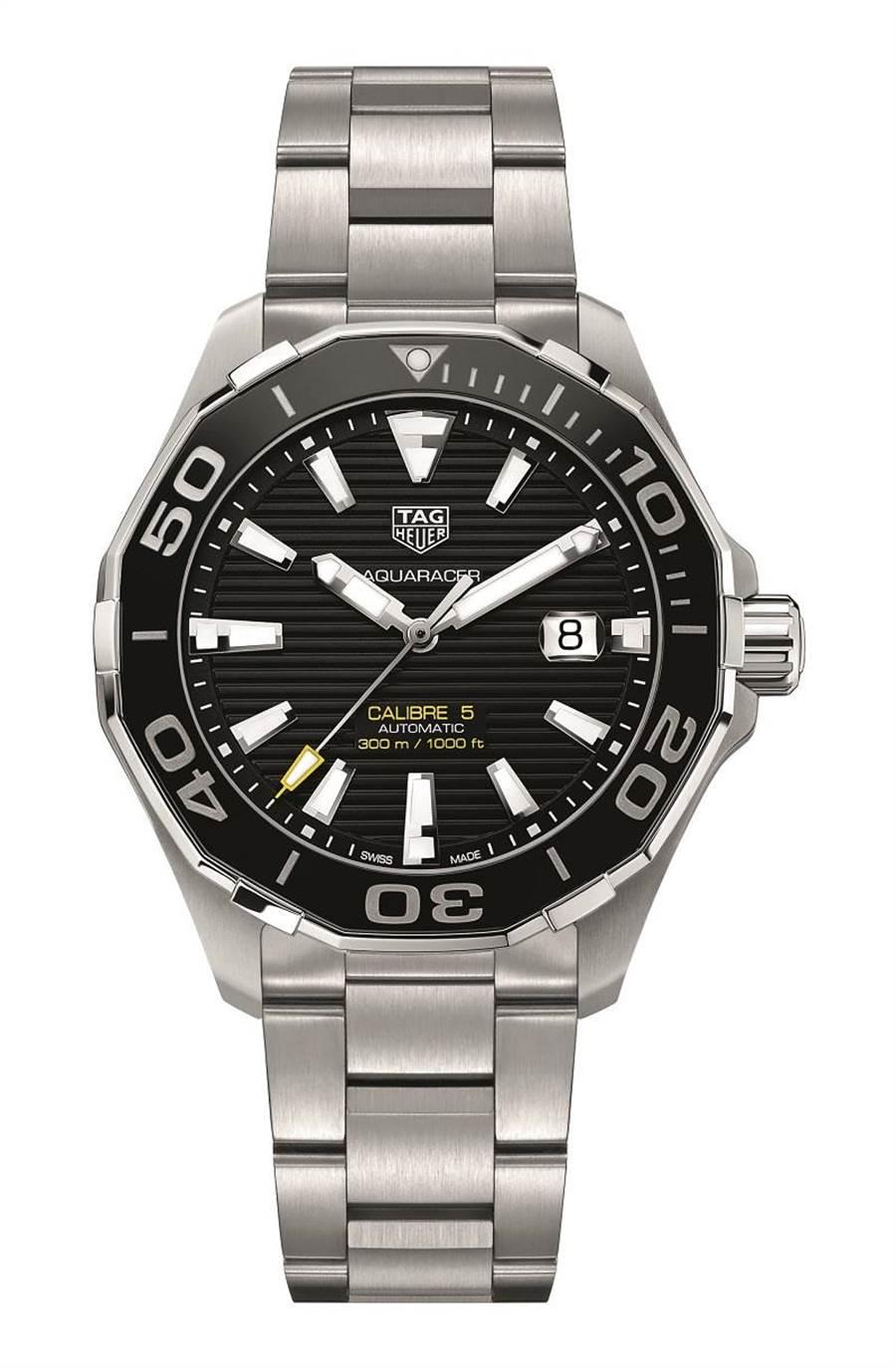 泰格豪雅Aquaracer Calibre5腕表,8萬7400元。(TAG Heuer提供)