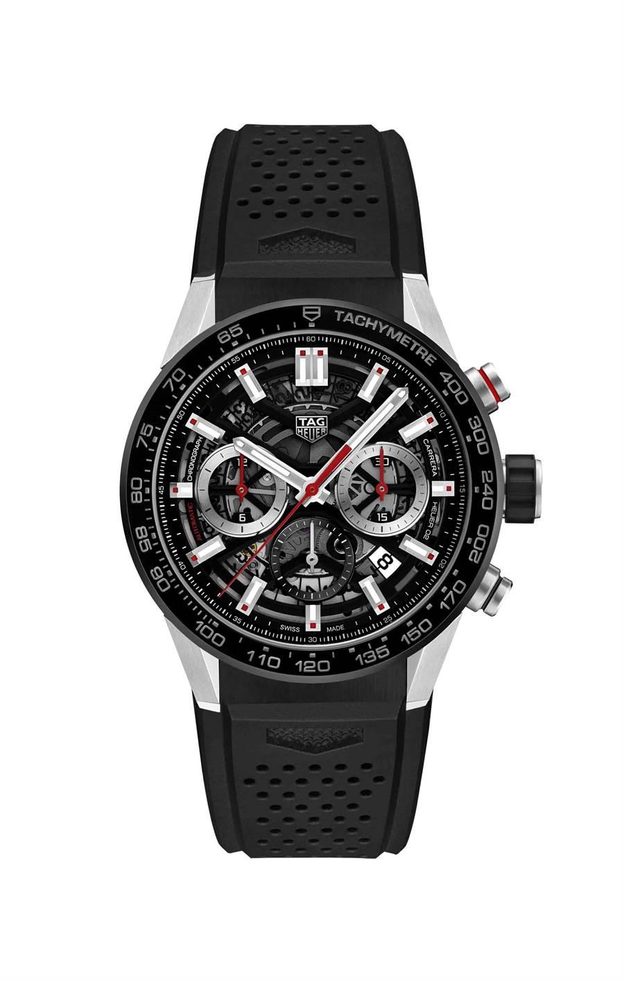 泰格豪雅Carrera Calibre Heuer 02自動計時腕表,17萬3300元。(TAG Heuer提供)