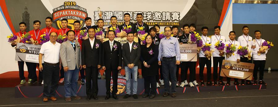 首屆台灣國際藤球邀請賽圓滿落幕。(藤球協會提供/陳筱琳傳真)