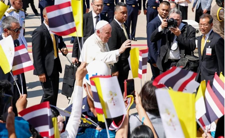 天主教教宗方濟各,今天抵達泰國訪問。(路透)