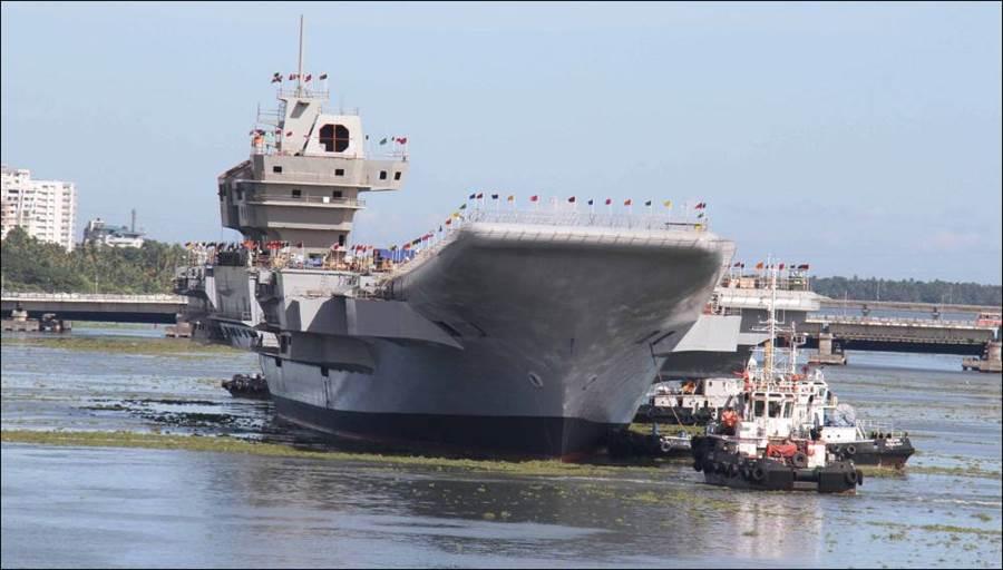 印度航艦維克蘭號建造了超過17年,預計2年內可以完成。(圖/印度海軍)
