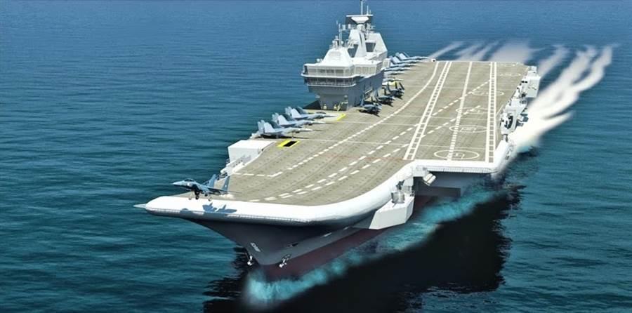 完成的維克蘭號想象圖。(圖/美國海軍學會)