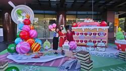 新光三越台中店「6.5米角落小夥伴-甜甜圈在一起耶誕樹」超吸睛