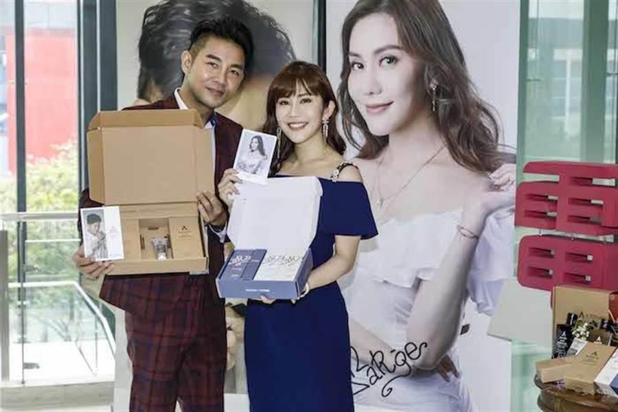 謝承均與王宇婕合作髮品事業。三立提供