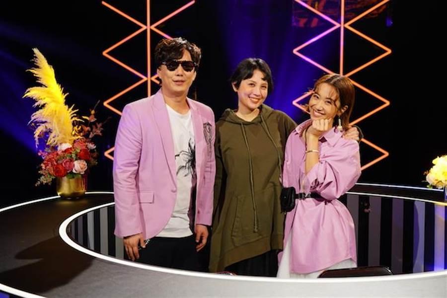 蕭煌奇(左起)、魏如萱、Lulu。華視提供