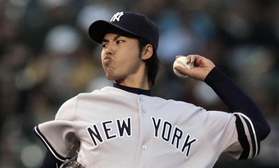 前洋基投手井川慶只在大聯盟投了16場球。(美聯社資料照)