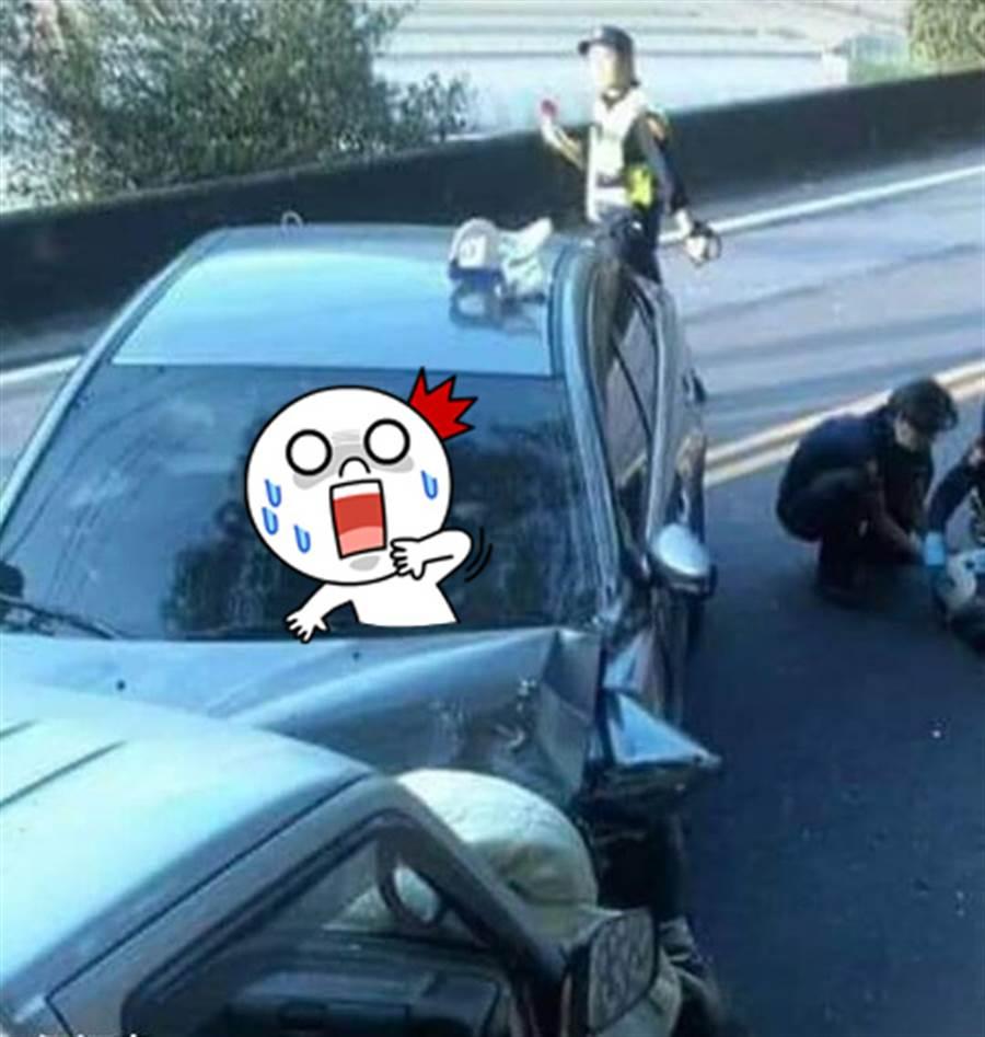 車禍錄到鬼 網發毛:整台車坐滿(圖片取自/靈異公社)