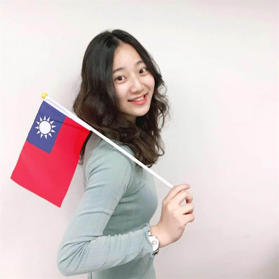 國民黨最年輕的副發言人洪于茜。(圖/翻攝自 洪于茜 臉書)