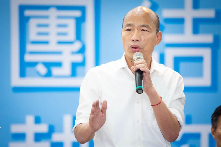 國民黨總統參選人韓國瑜民調低迷,教授龐建國對此提出可能抽樣黑數與沉默螺旋效應所造成。(圖/中時檔案照)
