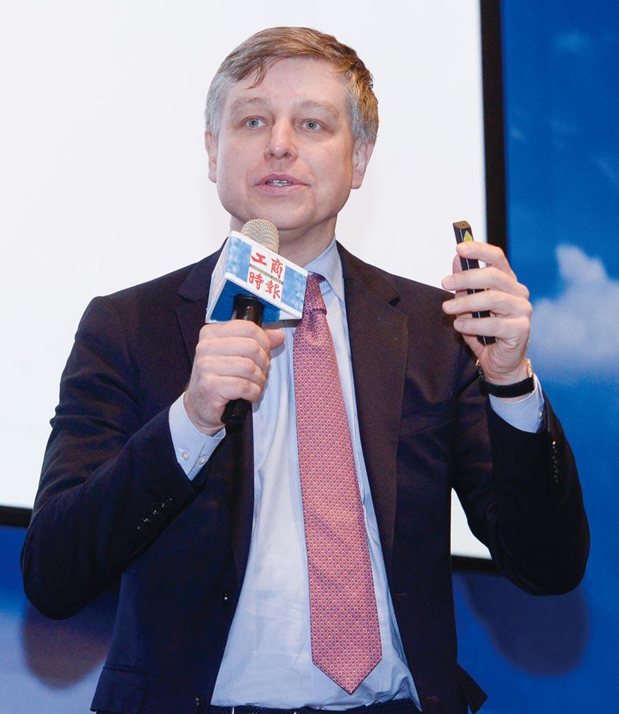 芝商所執行總監暨資深經濟分析師Erik Norland出席進行專題演講。圖/王德為
