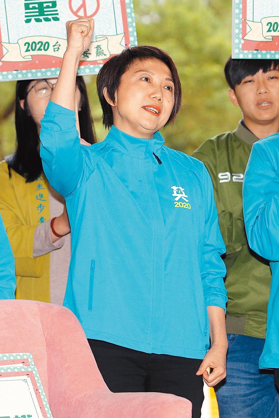 民進黨不分區立委參選人范雲。(黃世麒攝)
