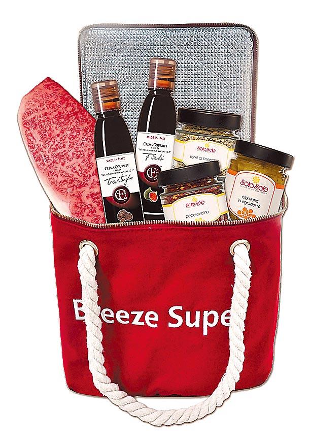 Breeze Super南山旗艦店和牛驚喜禮盒,原價4540元、特價2800元,限量20組。(微風提供)