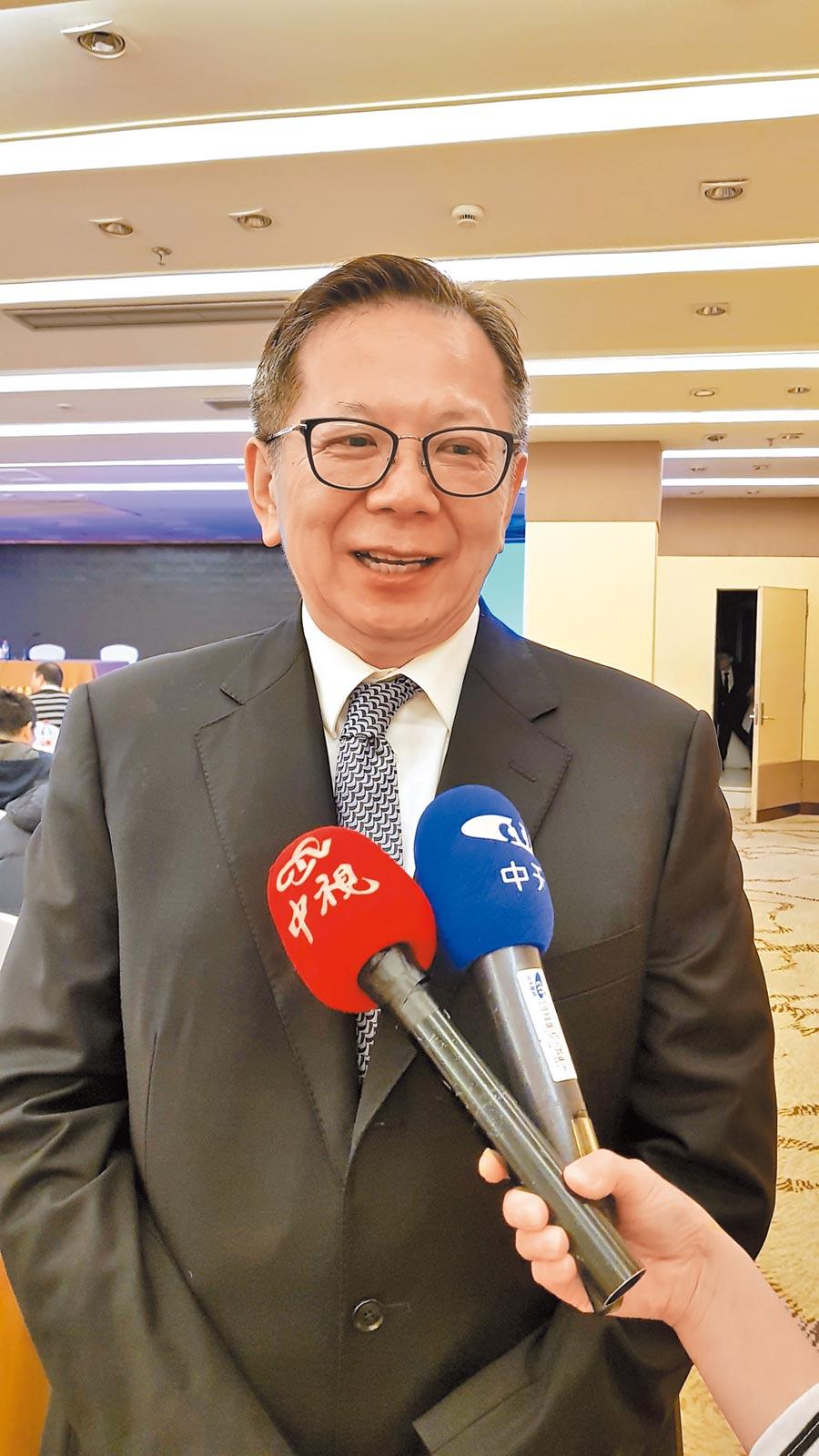 北京台資企業協會會長章啟正。(本報系資料照片)