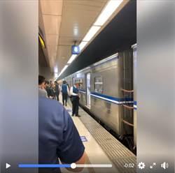台鐵列車進站大冒煙!乘客嚇傻