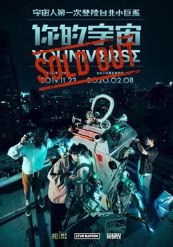 宇宙人2020小巨蛋演唱會 門票開賣8分鐘秒殺!