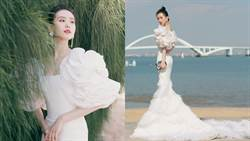 《金雞獎》劉詩詩白花瓣禮服冒仙氣美哭網:高貴的天鵝