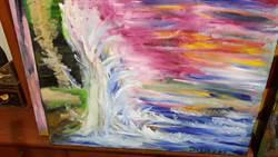 賴重宇抽象畫說兒時看海的日子