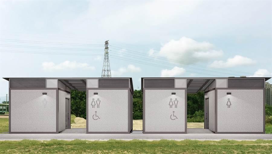 市府近期將進行公廁升級變身計畫,再投入1775萬,打造可融入地景的20座簡約風格系景觀廁所。(新竹市政府提供/陳育賢新竹傳真)