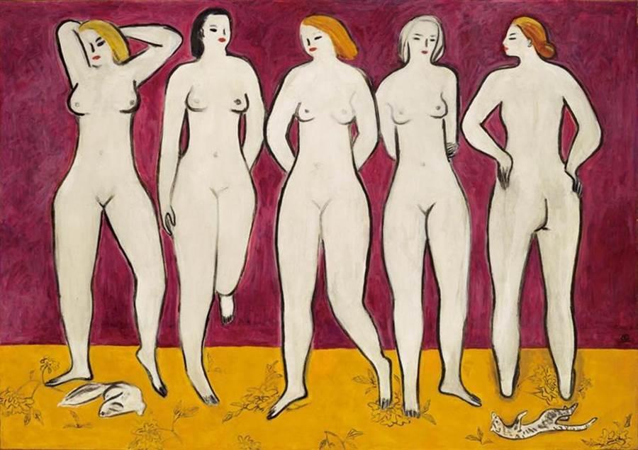 常玉五裸女以11.84億台幣天價成交。(圖/佳士得)