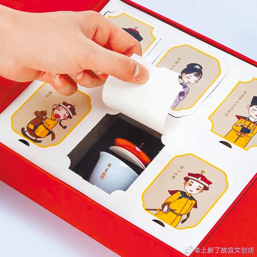 北京故宮推出系列文創產品。(取自微博@上新了,故宮文創店)