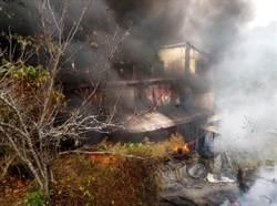 阿里山咖啡包裝加工廠房傳出火警