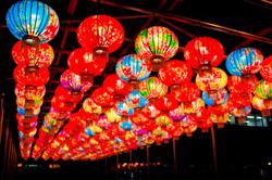 日青森平川市燈飾活動有濃濃的台灣味