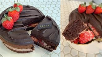 冰雪奇緣「艾莎女王」搶上桌!厚實黑巧蛋糕爆夾整顆果肉
