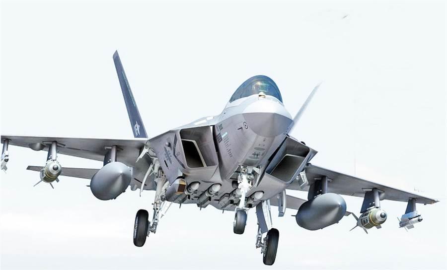 KAI公布的KF-X戰機概念圖。(圖/KAI)