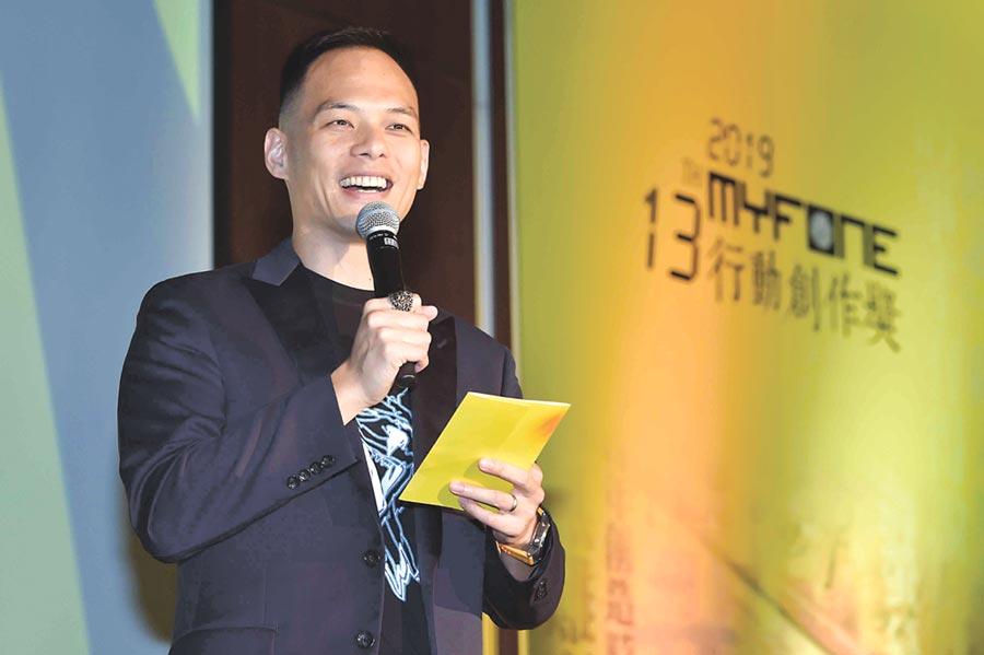 台灣大哥大透過每年舉辦的myfone行動創作獎,挖掘新創團隊。圖為台灣大哥大總經理林之晨。圖/台灣大哥大提供
