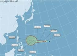 輕颱北冕形成 北台濕冷下探15度