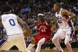 NBA》4分鐘1分未得 七六人遭暴龍逆襲