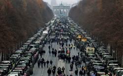 德國農民抗議農業政策 動員千輛拖拉機癱瘓柏林