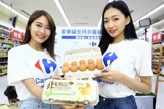 家樂福首推自有品牌非籠飼雞蛋 買1盒捐1元
