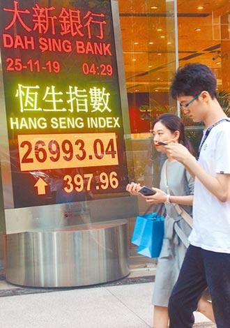 香港恆指大漲1.5% 居亞股之冠