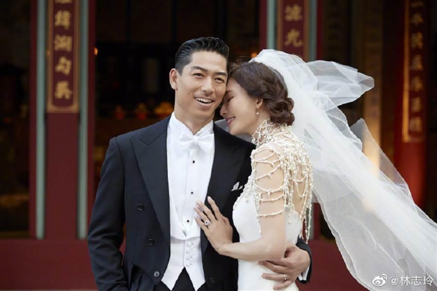 林志玲日前在台南舉行婚宴。(取自林志玲微博)