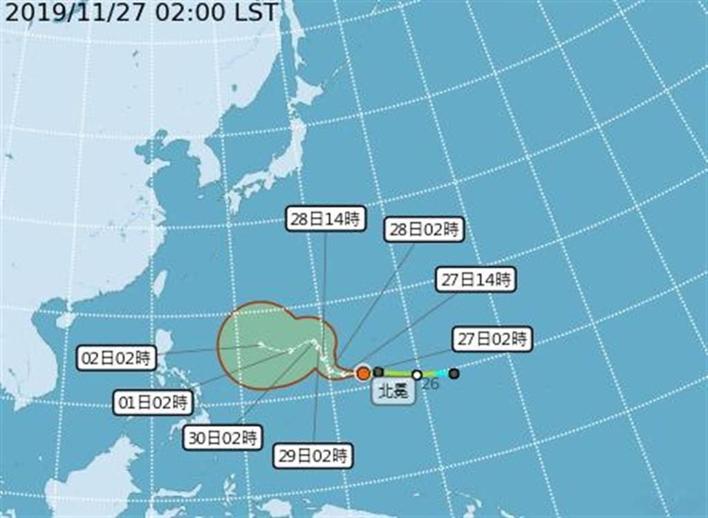 下周三起戒備,氣象局曝北冕影響台灣關鍵。(圖/氣象局)